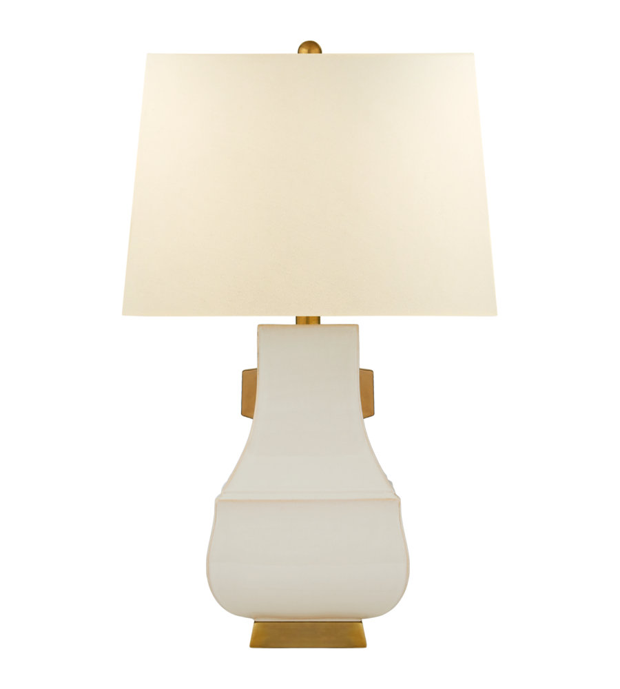 visual comfort cha chapman casual kang jug large gold accent table lamps lamp ivory and burnt with natural percale shade high tablecloth next dining room chairs tables cabinets