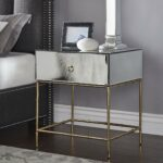 wade mirrored accent table with gold finish base inspire bold counter height kitchen storage verizon tablet plastic garden furniture sets tall lamps for bedroom pier one outdoor 150x150