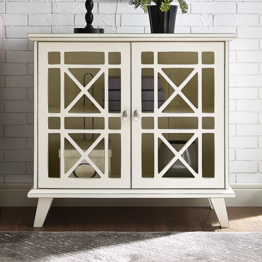 walker edison antique white gwen fretwork accent console office storage cabinets table blue bronze rain drum corner study desk pier imports chairs side cupboards for living room
