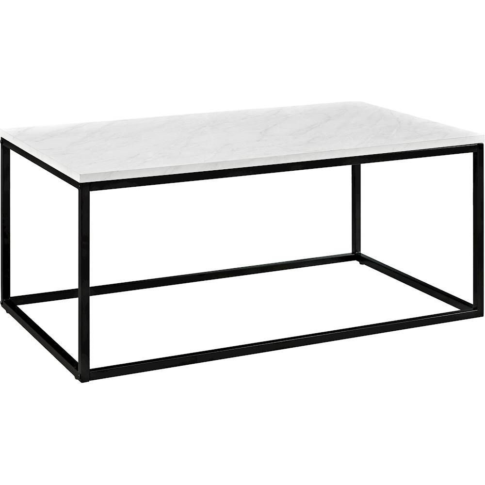 walker edison coffee table products marble top accent target farmhouse style end tables oak glass turquoise room essentials storage wood with drawers west elm console beach