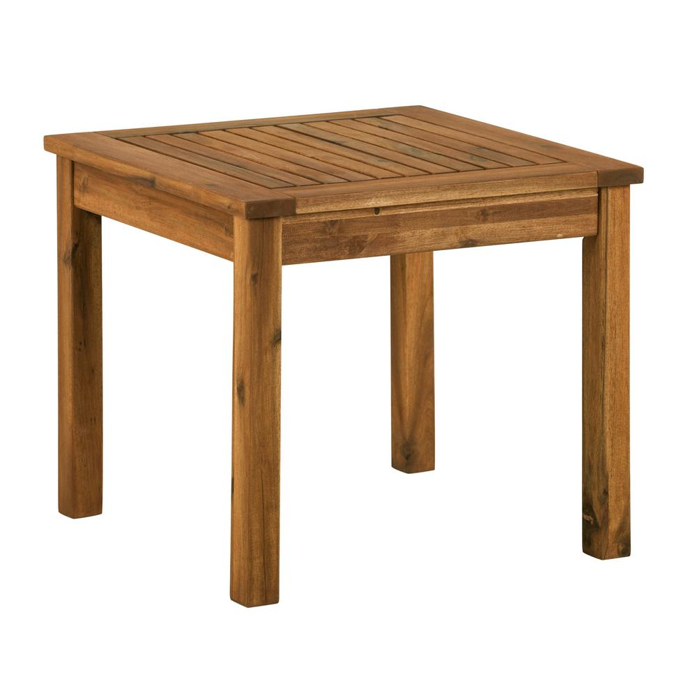walker edison furniture company brown square acacia wood outdoor side tables hdwsstbr table ikea white coffee ideas ceramic lamp marble top end target antique roadshow tiffany