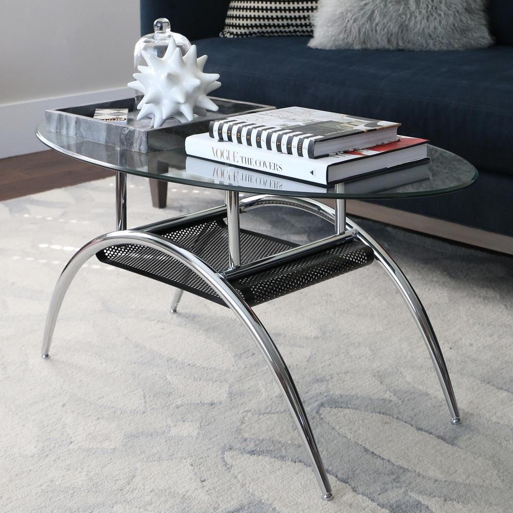 walker edison furniture company glass storage coffee table tables chrome metal accent console sofa with shelf round concrete dining ornamental lamps gold and silver long slim