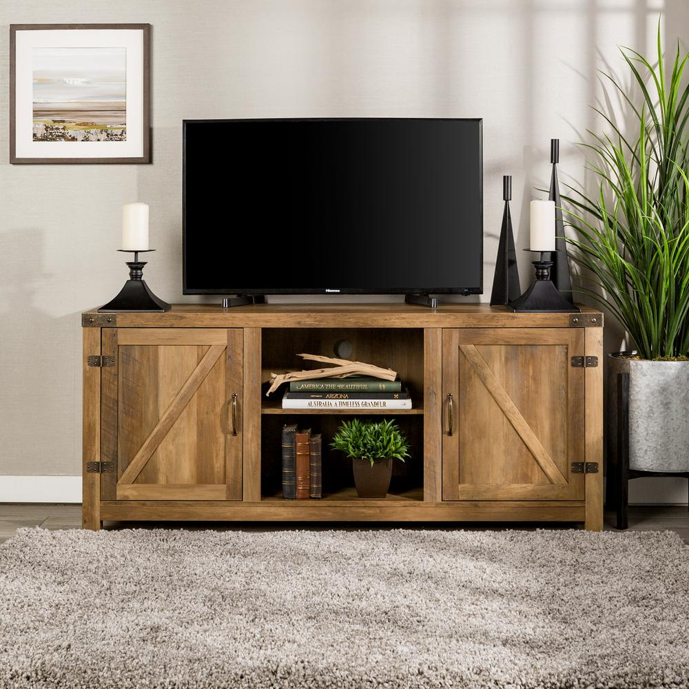 walker edison furniture company rustic oak barn door stand stands accent table with side doors slim sofa outdoor patio cooler ikea toy storage unit chevron runner pattern interior