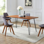 walker edison furniture inch hairpin leg dining table walnut accent hover zoom pier set room sets with bench cherry wood antique lamp metal end tables storage gold rustic looking 150x150