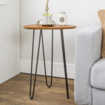 walker edison furniture inch hairpin leg wood side table accent walnut hover zoom antique lamp pier dining set ashley leather recliner distressed console led night light black 150x150