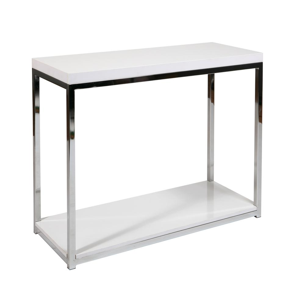 wall street white chrome foyer table the end tables accent matching nightstands threshold bar stools bunnings garden furniture between carpet and tile small round glass dining