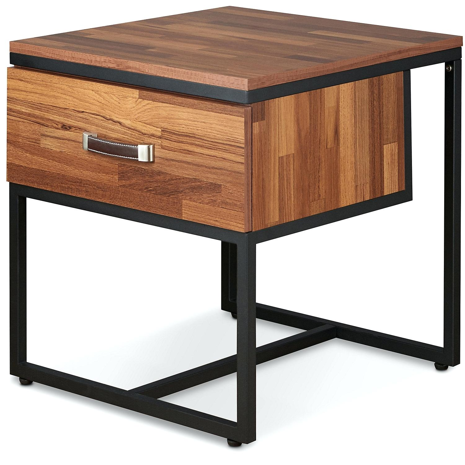 walnut accent table square end wood storage and occasional furniture one drawer project living room sets bathroom outdoor corner elastic covers big cloth coffee with modern tables