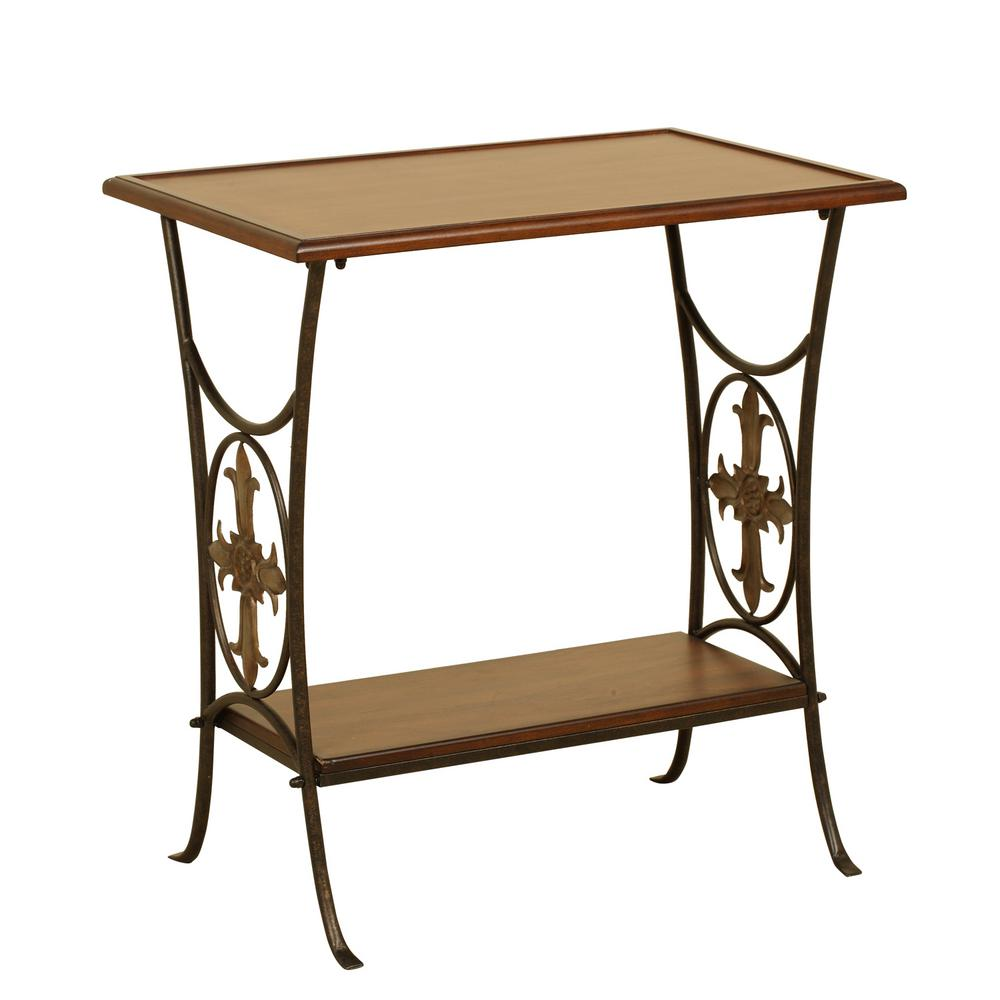 walnut accent table with removable tray the end tables coffee nest underneath victorian style curio target threshold curtain wire mirror company gallerie pillows cherry wood