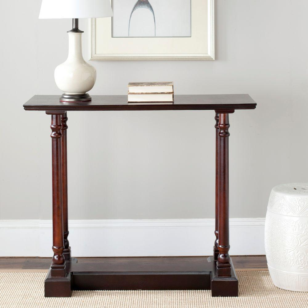 walnut decor therapy living room furniture the dark cherry safavieh console tables foremost accent table target regan large dining sets inch round linens ethan allen end used