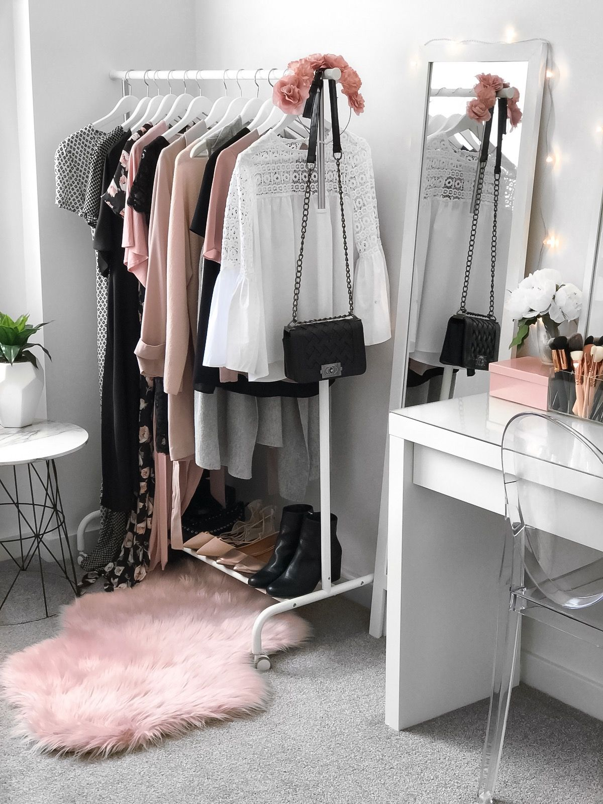 wardrobe beauty room makeup vanity from ikea malm dressing table target pink marble accent chair kmart rug clothing rack side jcpenney rugs clearance ashley furniture signature