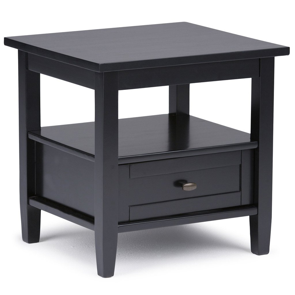 warm shaker end table simpli home ryder small accent inch side target mirrored door threshold smoked glass coffee hampton bay furniture with basket drawers tiffany style