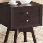 warwick dark brown modern accent table nightstand hautelook long thin side target bar stools large square marble coffee phone stand for desk entryway decor tablecloth inch round 150x150