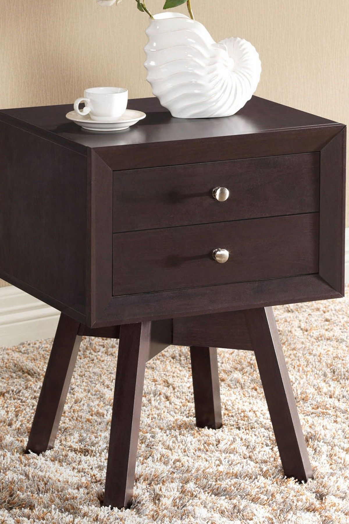 warwick dark brown modern accent table nightstand hautelook long thin side target bar stools large square marble coffee phone stand for desk entryway decor tablecloth inch round