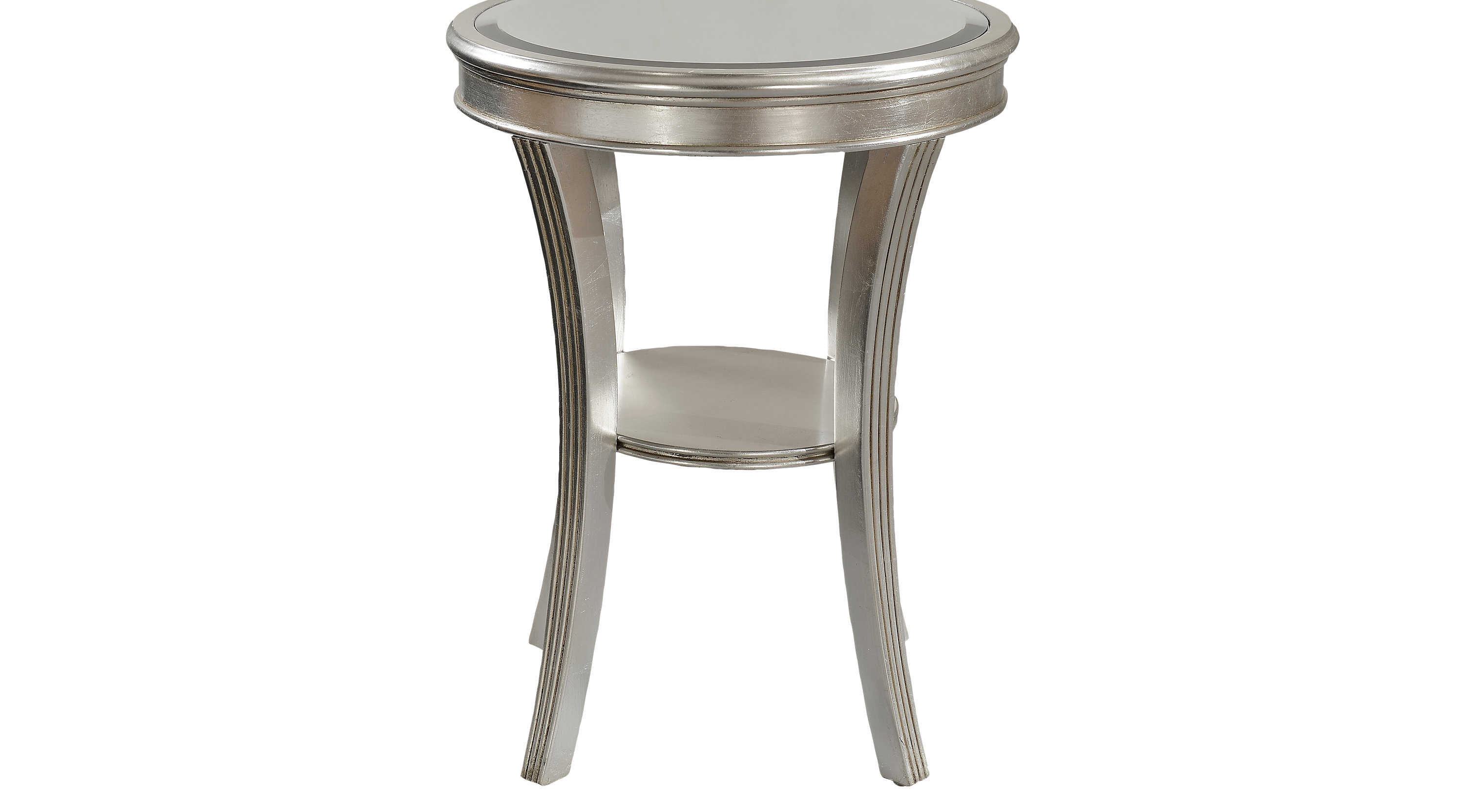 waterbury silver accent table contemporary pedestal glass top patio end tables dorm room furniture unique desk lamps large square vanity small acrylic safavieh home collection