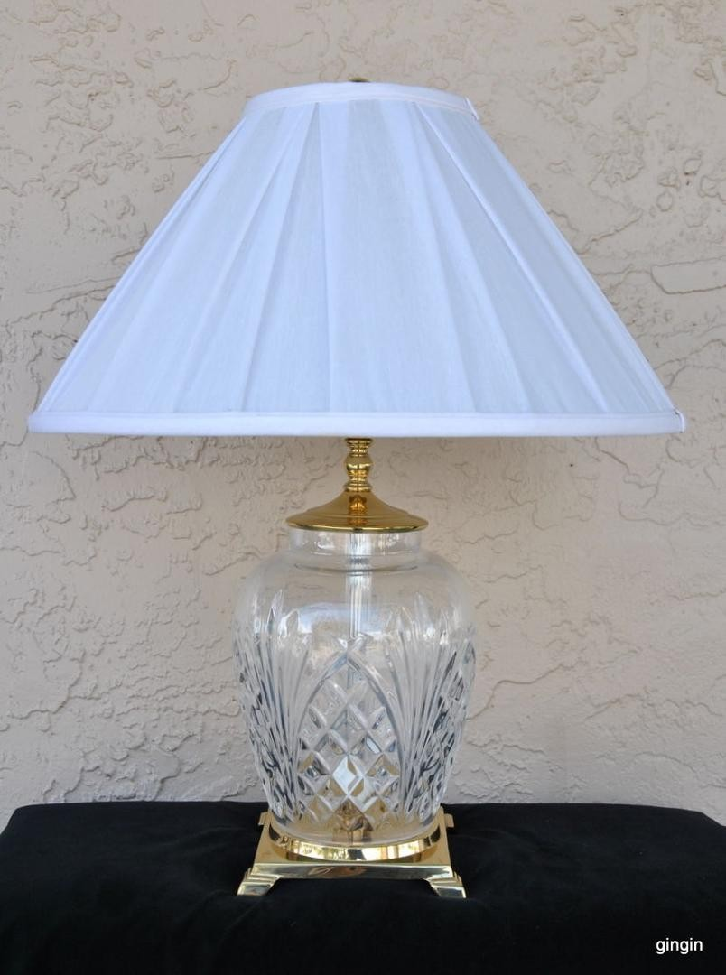 waterford crystal kilkenny accent table lamp gorgeous perfect previous glass tea antique retro furniture acrylic side small mid century dining blue and white porcelain lamps green