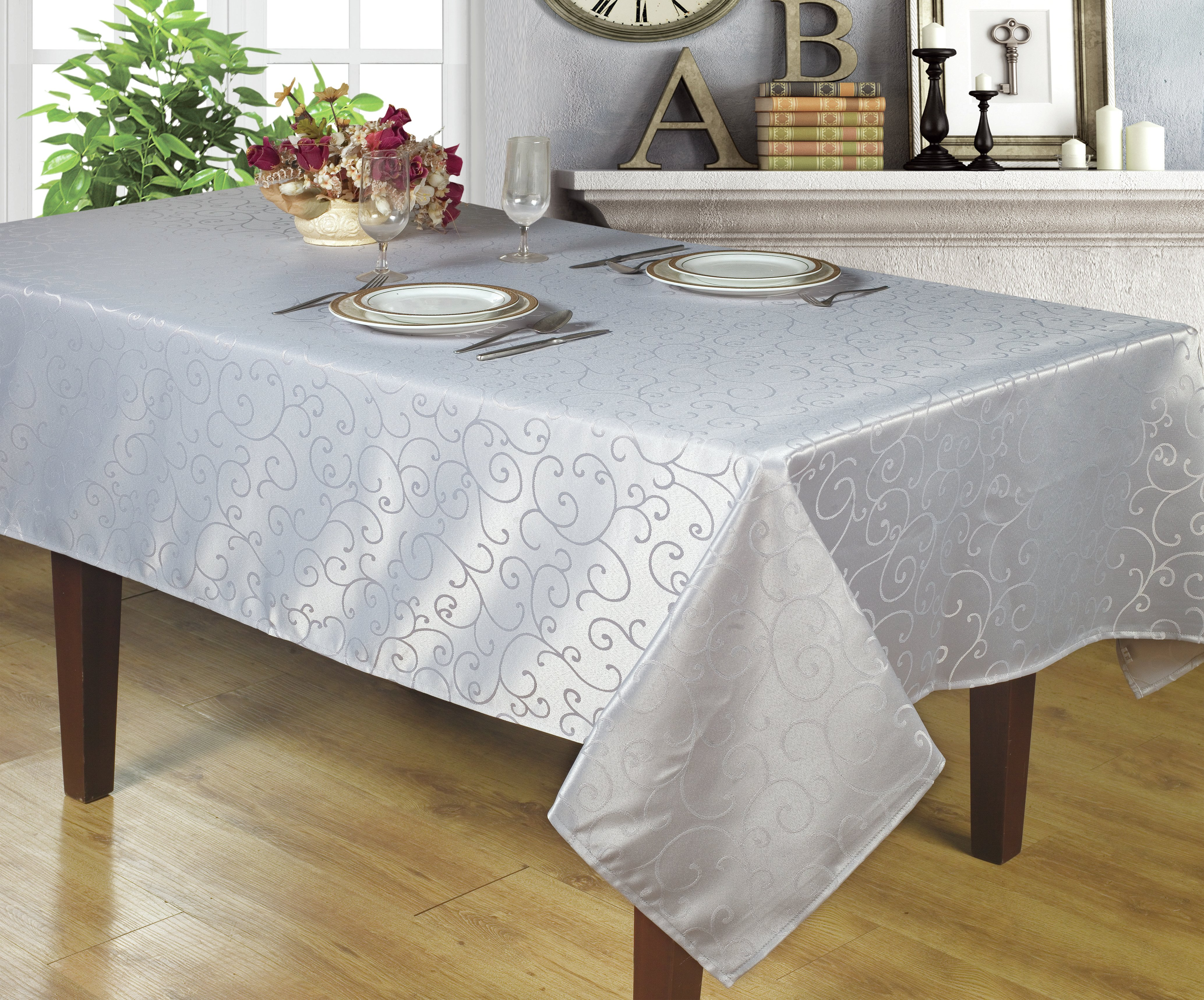 waterproof table cloth cedarville jacquard tablecloth round accent carpet tile trim strips home interior ideas holiday runner hairpin legs pier one imports and chairs distressed