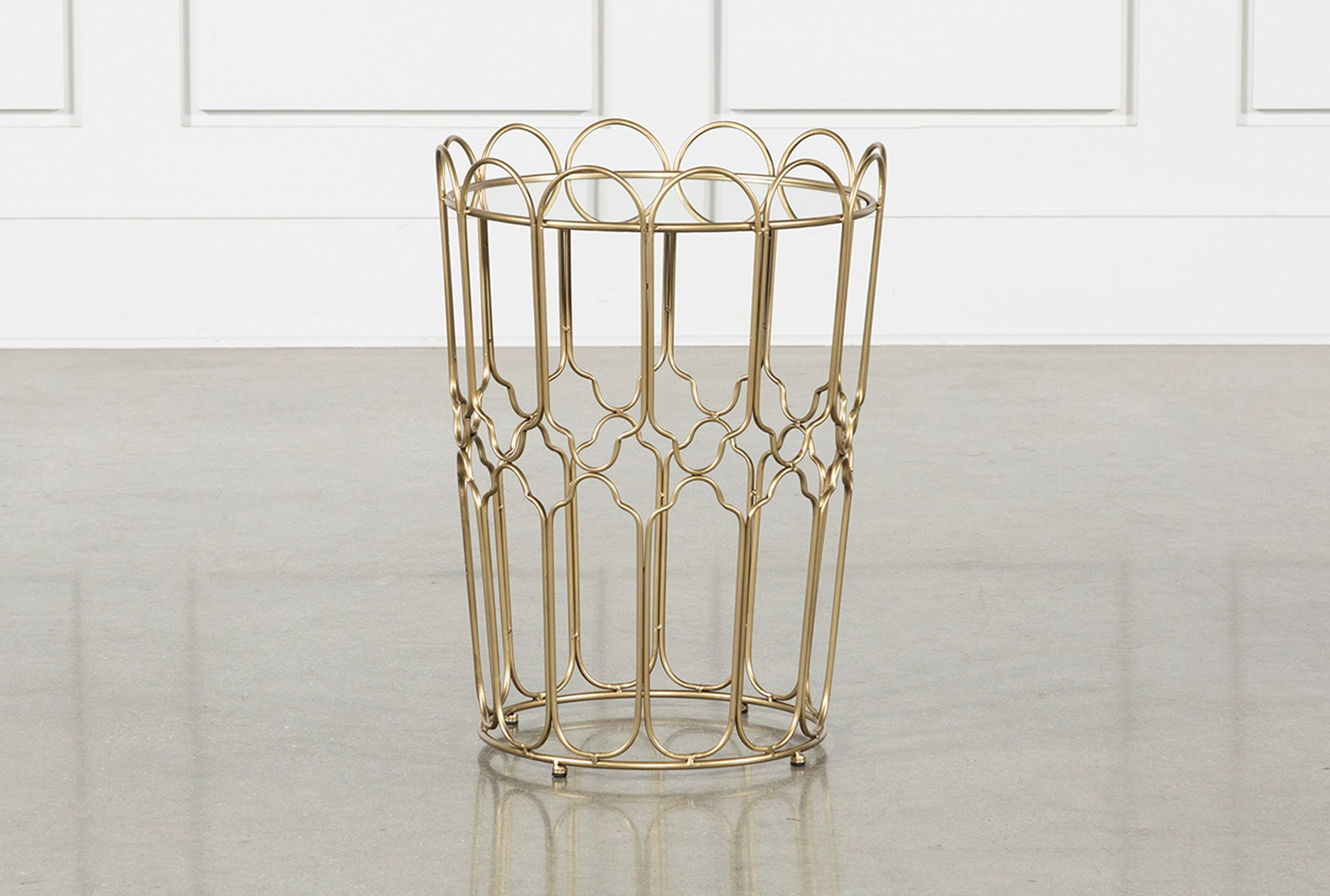 waves gold accent table living spaces metal qty has been successfully your cart entryway with shoe storage silver occasional tall cement base threshold rectangular umbrella center