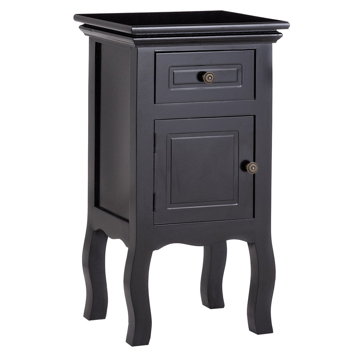 way black nightstand storage drawer and cabinet wood accent table end coffee with lamp attached outdoor console breakfast bar stools mid century lighting lily slim glass house