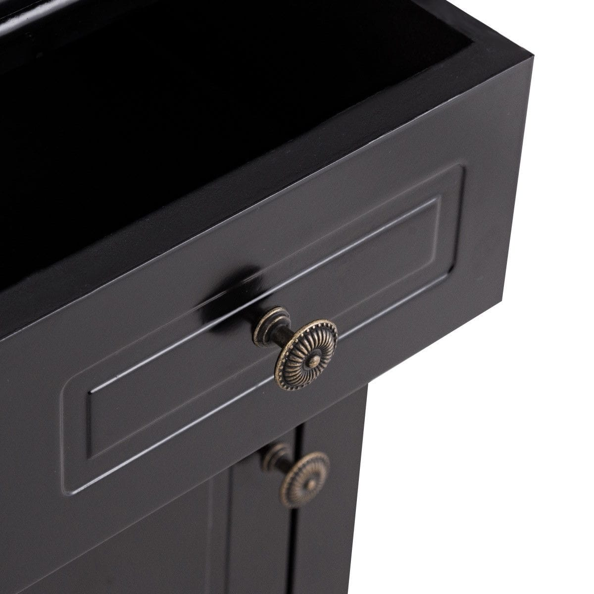 way black nightstand storage drawer and cabinet wood end for bedroom accent table with lock free shipping today patio world plastic garden chairs small bathroom wall decorating