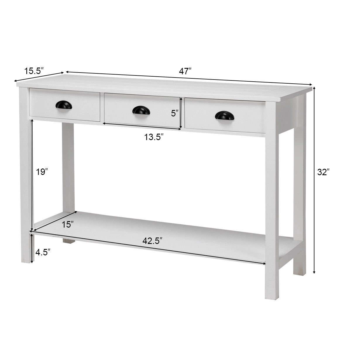 way console table hall side desk accent drawers shelf entryway white with free shipping today tables living room canadian tire patio definition large marble decor coffee toronto