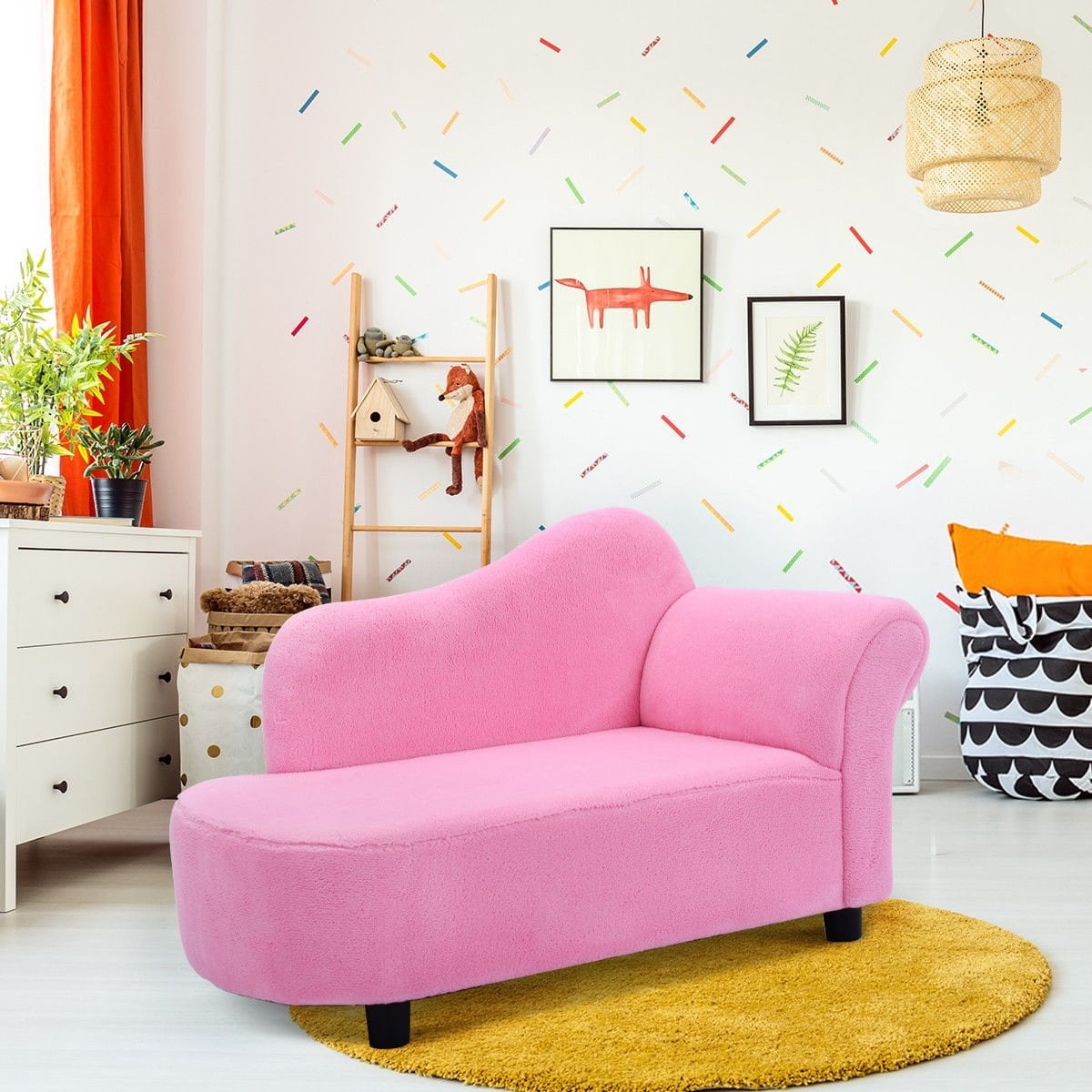 way kids sofa armrest chair couch lounge pink free marble accent table end tables round glass top decorative storage cabinets half moon mirrored pottery barn kitchen metal garden