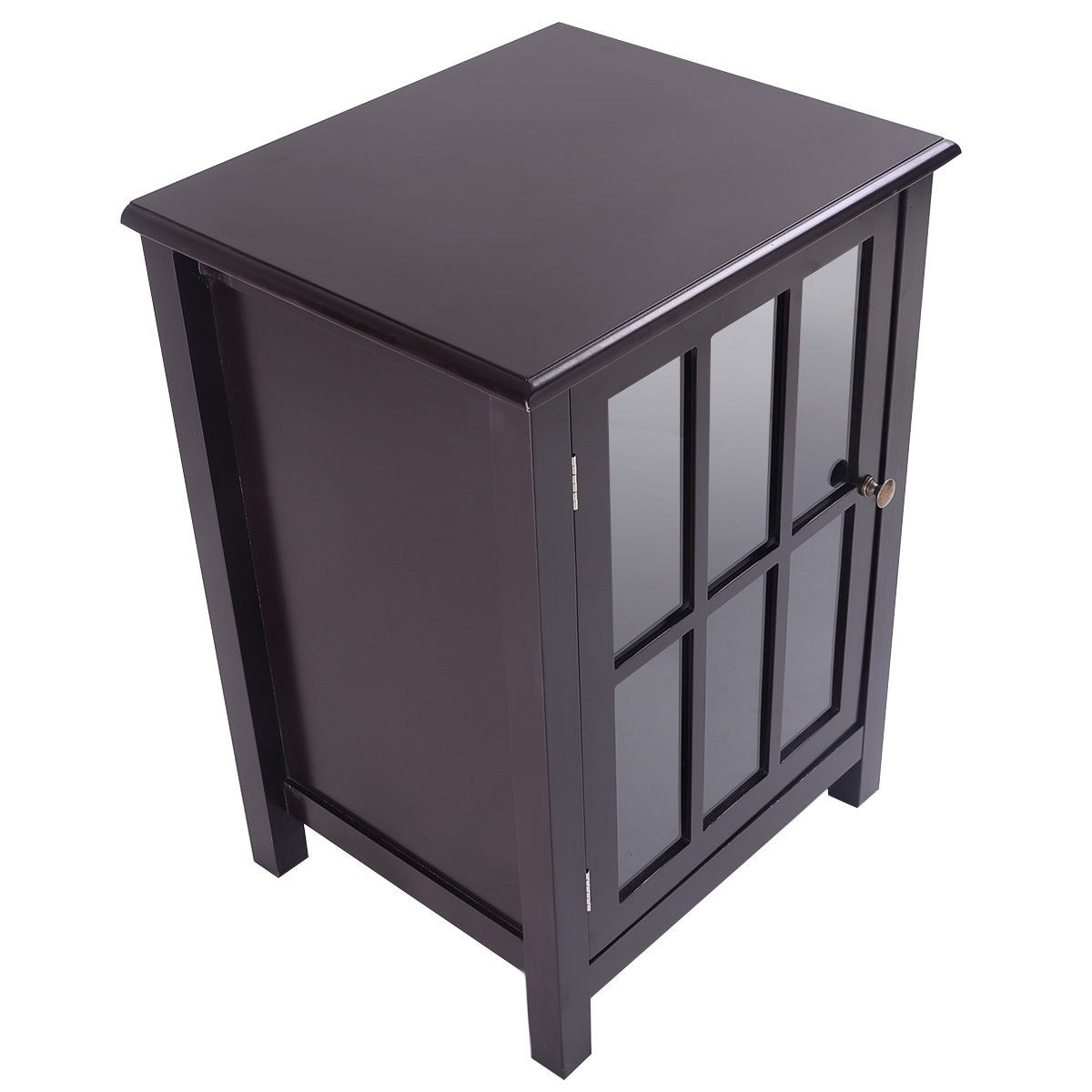 way one door accent cabinet storage shelf display home decor coffee linon galway table white espresso free shipping today kenzie chestnut end pier dining and chairs small chest