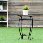 way outdoor indoor accent table plant stand scheme garden steel ocean black bedroom end tables red metal side comfortable drum throne corner chair coffee set gold decorative 150x150