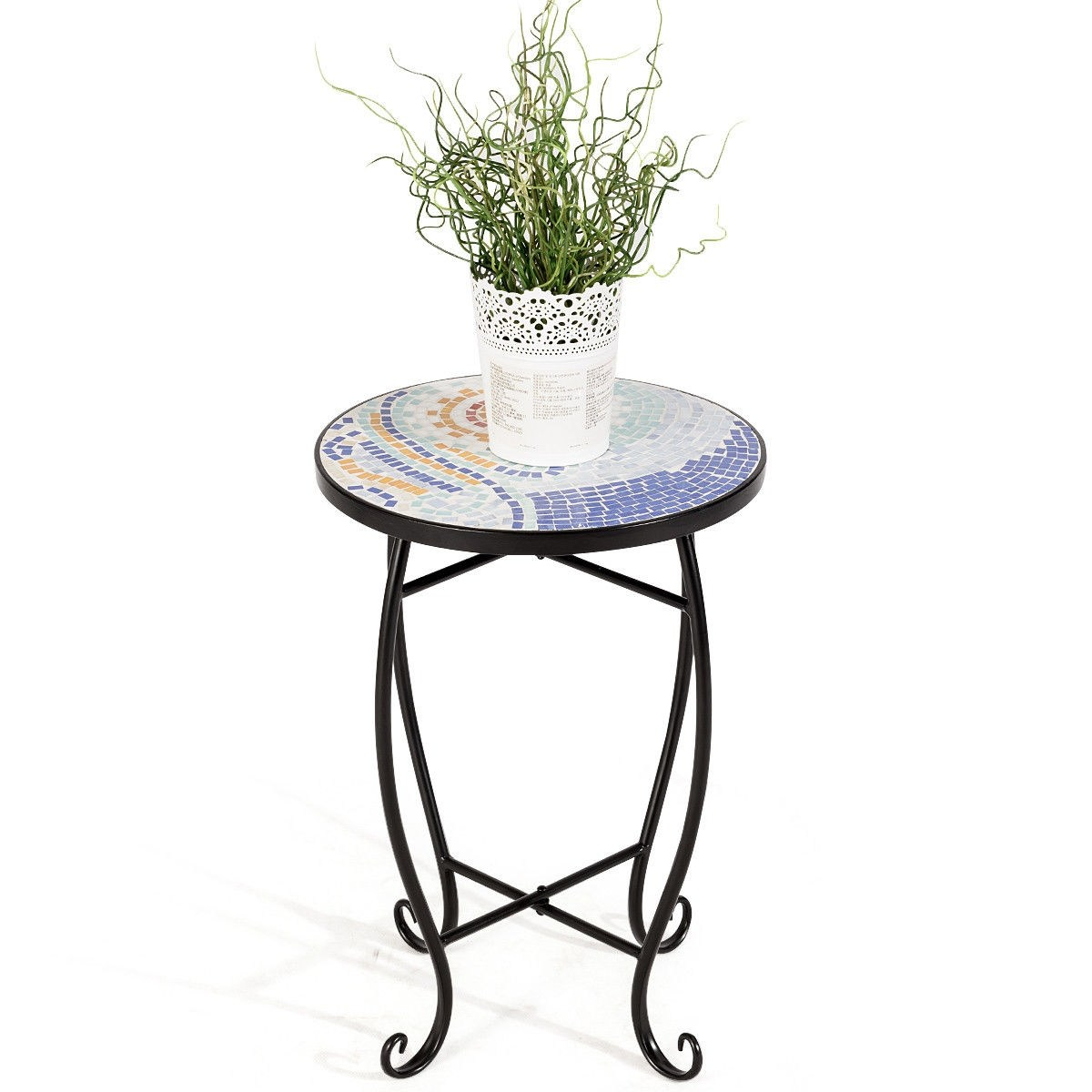way outdoor indoor accent table plant stand scheme garden steel ocean multicolor free shipping orders over red metal side unique coffee tables toronto patio clearance corner chair
