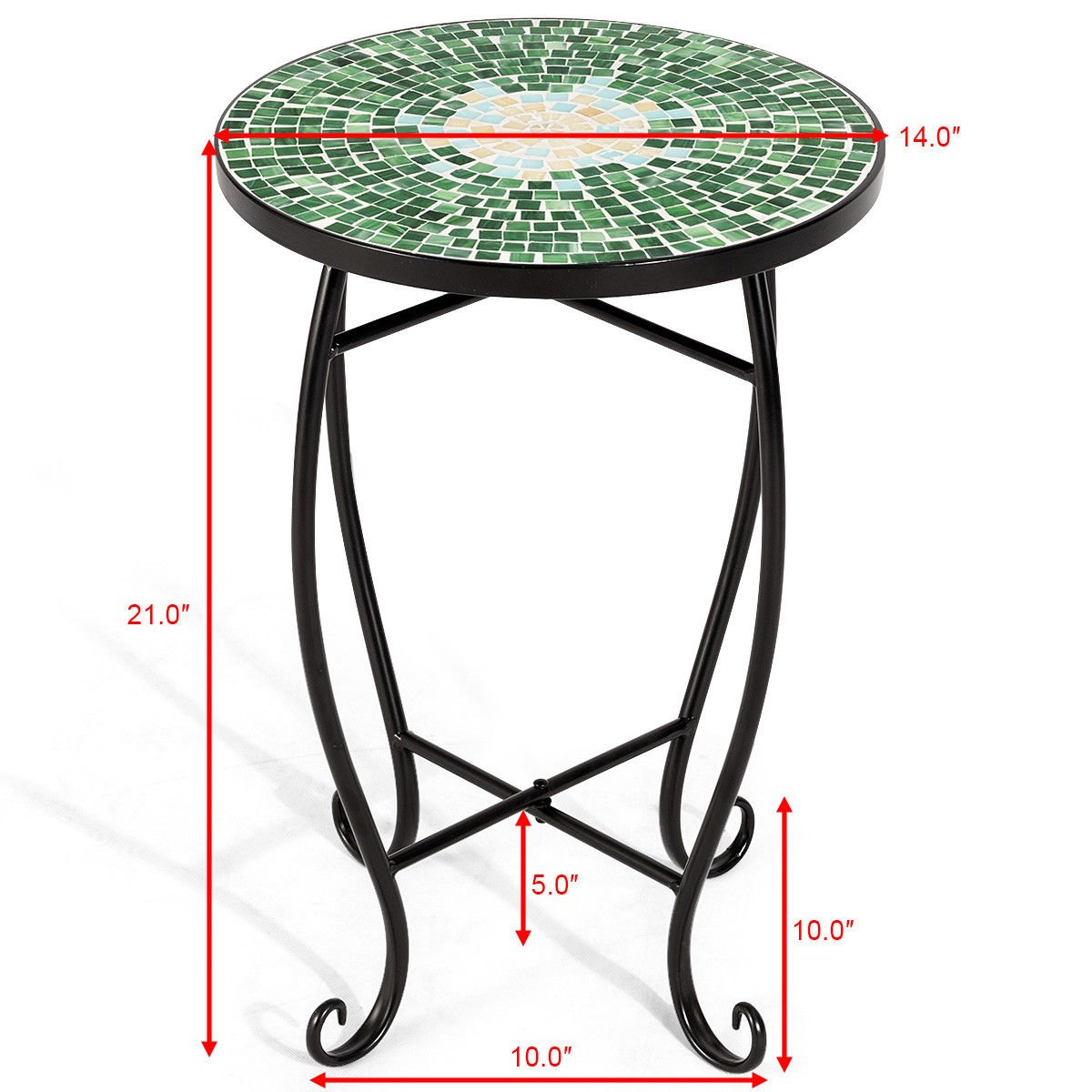 way outdoor indoor accent table plant stand scheme solar metal garden steel green chrome west elm off code coffee runner couches edmonton target windham furniture mat mid century