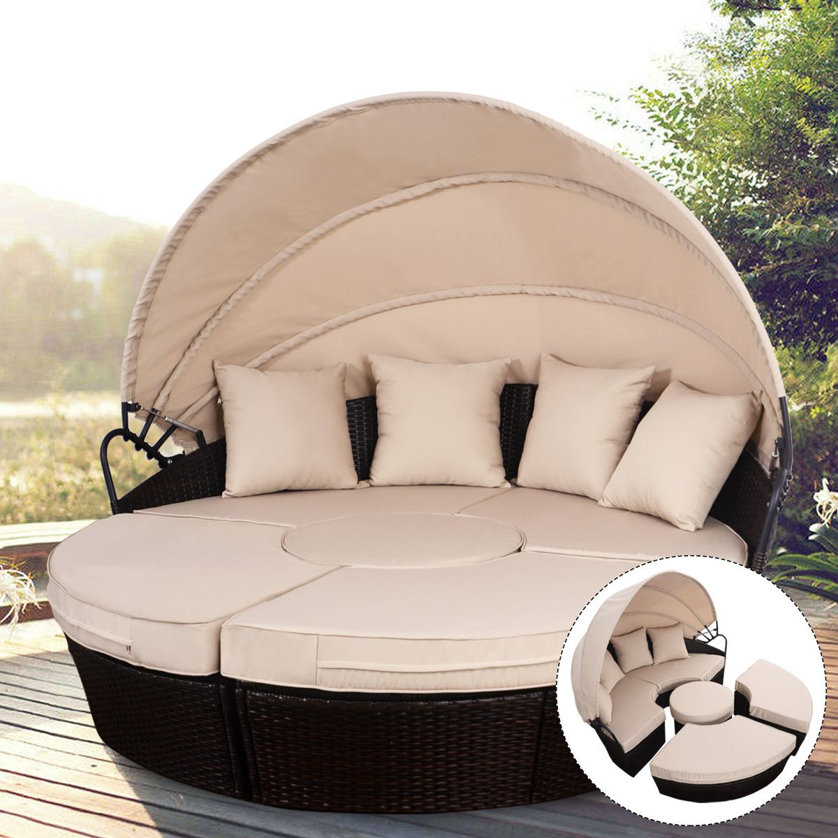 way outdoor mix brown rattan patio sofa furniture round foldable wicker accent table retractable canopy daybed ethan allen lamps antique pedestal end west elm elephant lamp inch