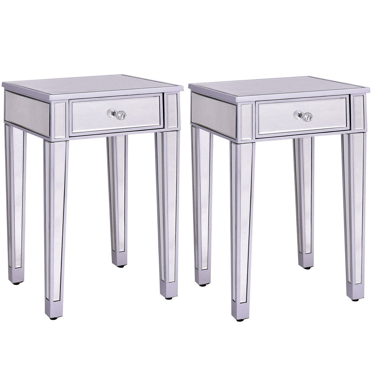 way pcs mirrored accent table nightstand end metal with drawers storage cabinet drawer simple side plans pedestal legs large outdoor wall clock pottery barn dining chairs chest