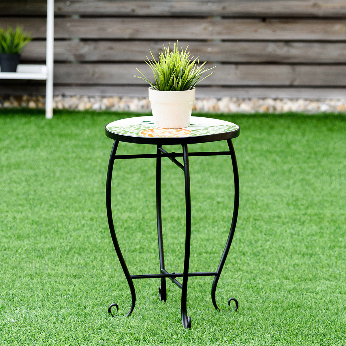 way pineapple outdoor indoor accent table plant stand scheme garden steel drummer stool adjustable height mirror lamp white cube coffee centerpiece ideas for home wine cabinet