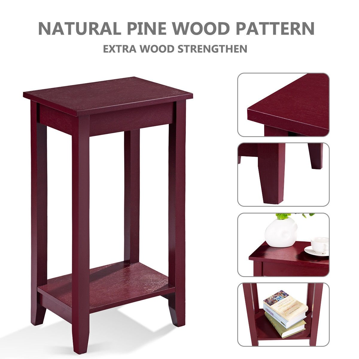 way tall end table coffee stand night side nightstand accent furniture extra wine red free shipping today small black occasional pallet and tables reclaimed wood corner nest long