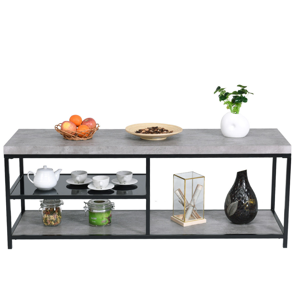 way tier cocktail coffee accent table sofa side tiered metal living room tempered glass beverage tub with stand kmart kids nautical bedroom ideas marble tops black wrought iron