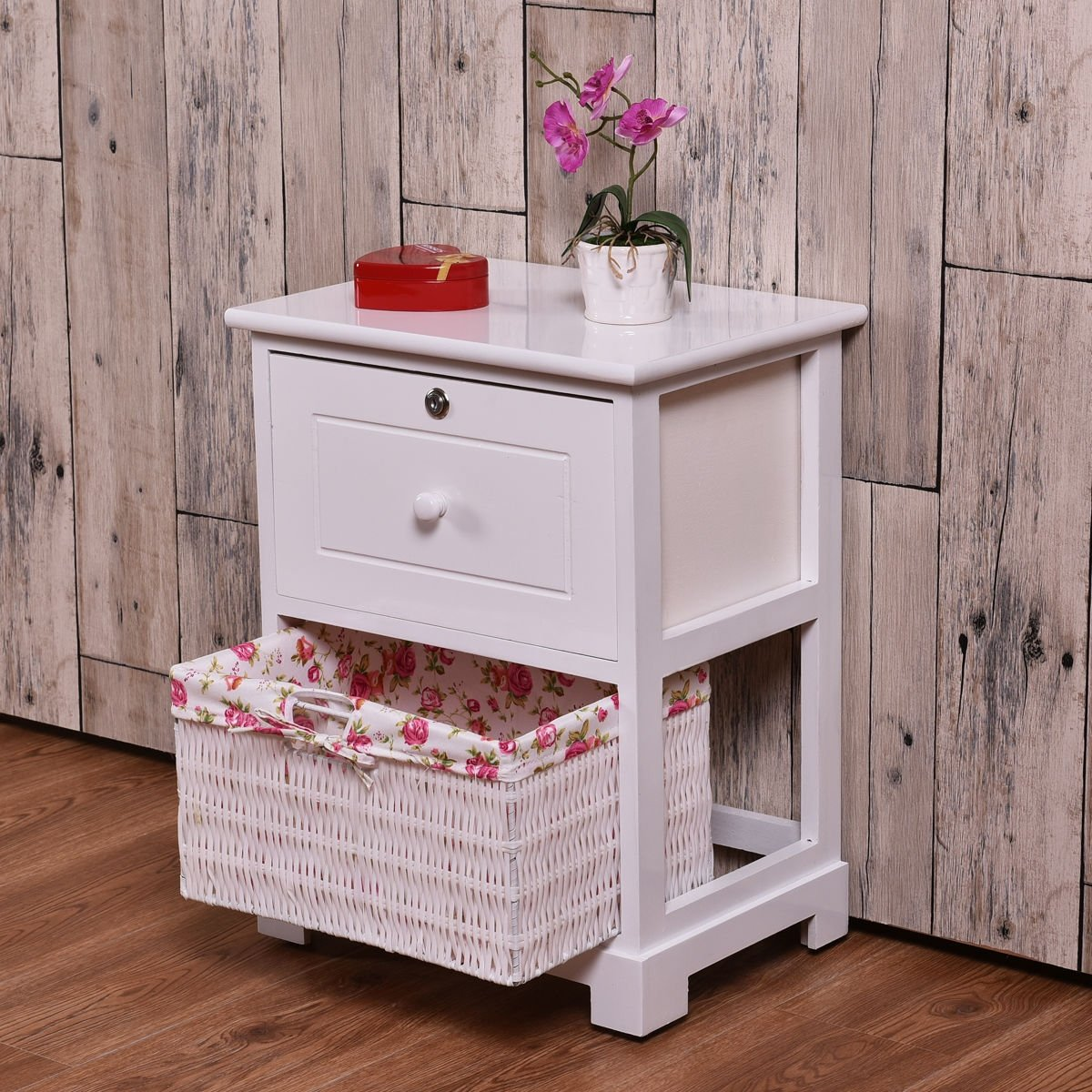 way white end side accent table night stand bedroom locked drawer basket with drawers free shipping today narrow glass pub bistro sets console behind couch marble set top