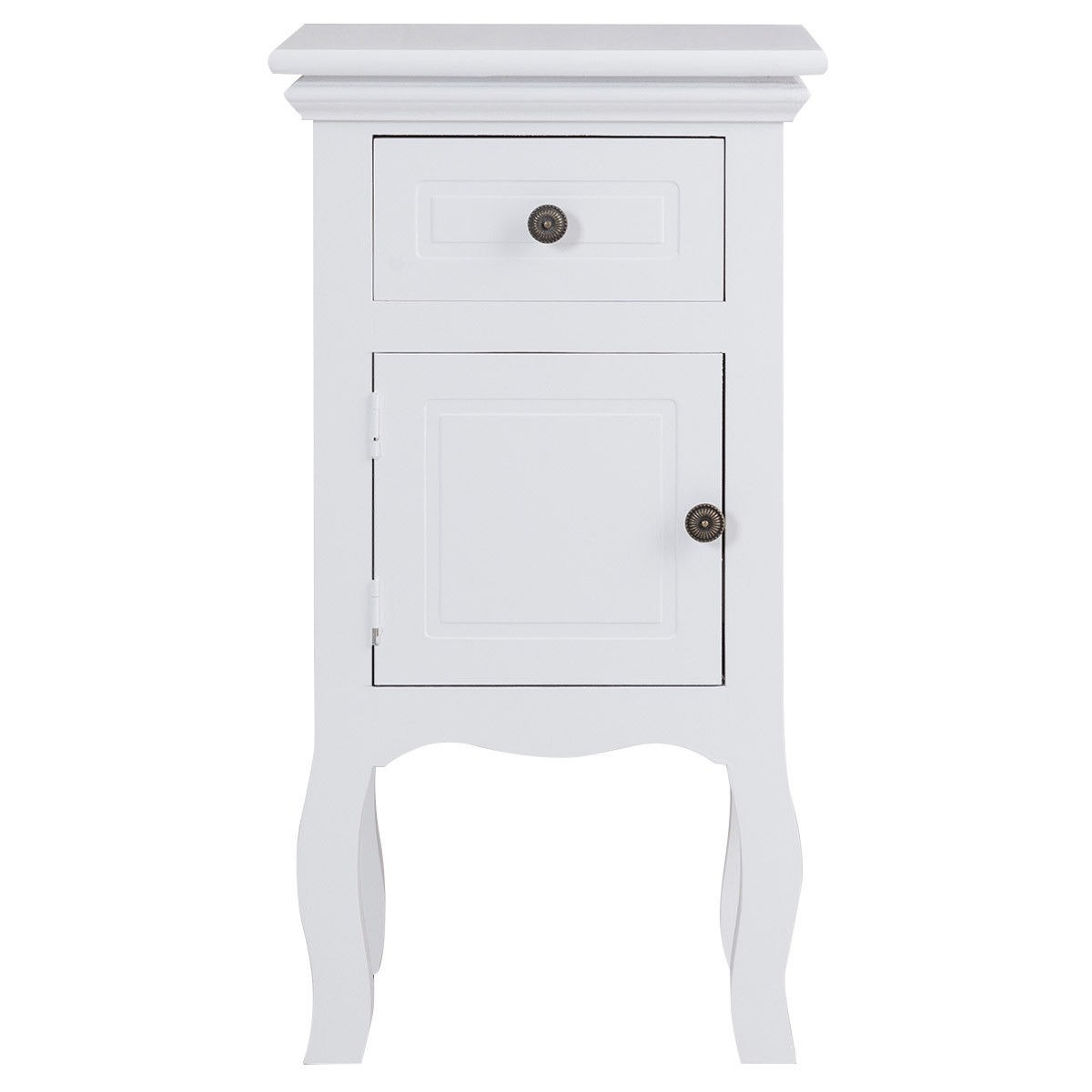 way white nightstand storage drawer and cabinet wood end for bedroom accent table with free shipping today dale tiffany buffet lamps small entryway console espresso furniture