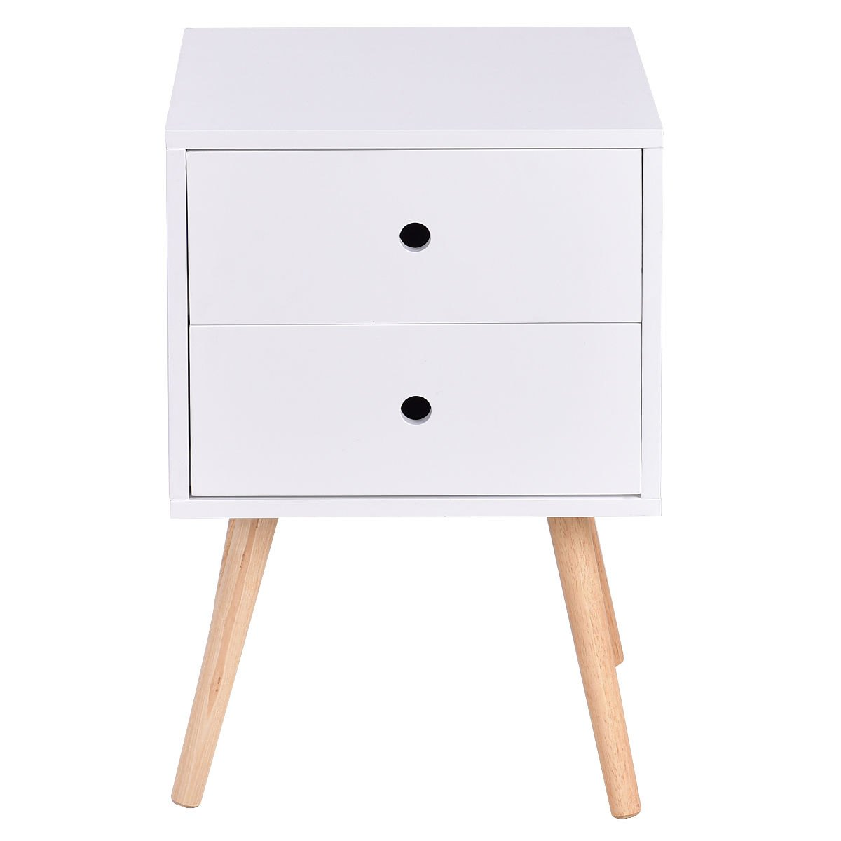 way white side end table nightstand drawers mid accent century wood furniture rustic tables with storage contemporary glass pottery barn legs red bedside lamps dining for small
