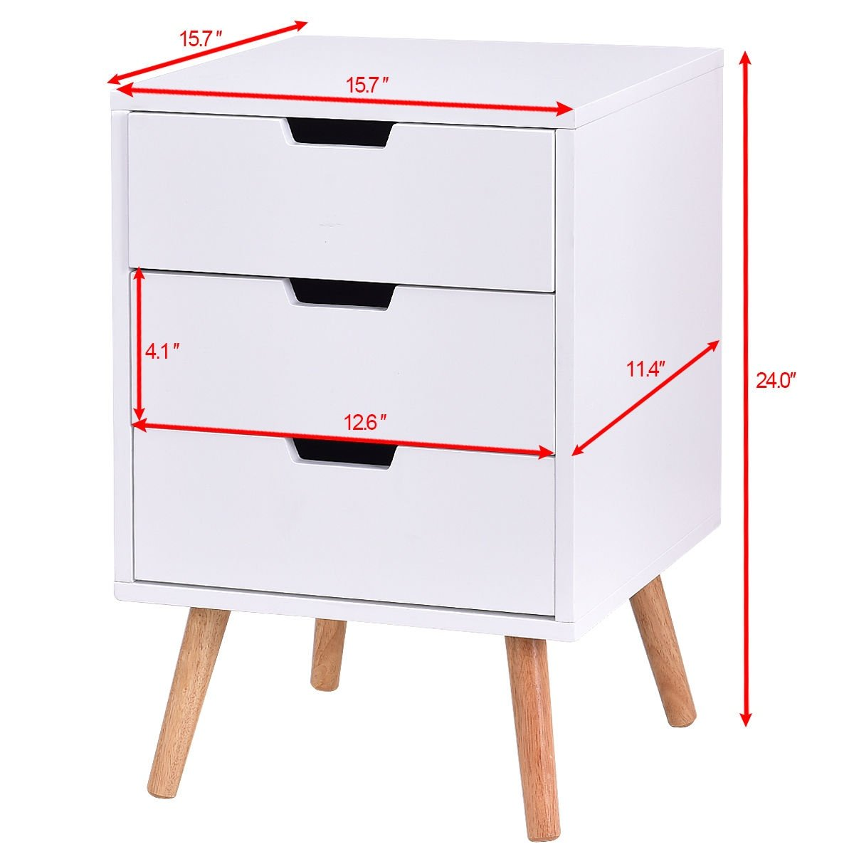 way white side end table nightstand drawers mid century accent wood furniture night console with shoe storage outdoor wicker patio round screw legs pottery barn dining set battery