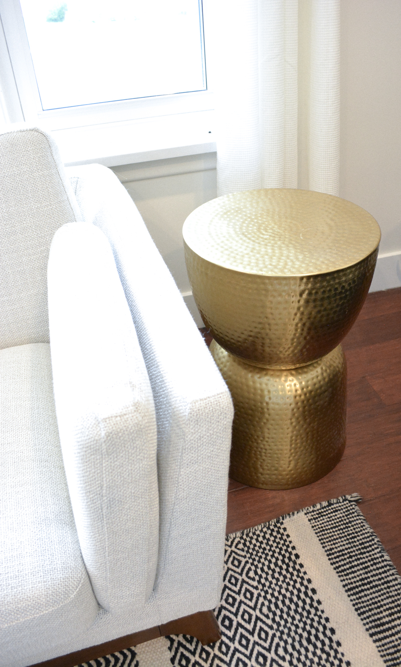 ways incorporated gold accents our home decor personally target drum sidetable accent table seater garden furniture west elm modernist lamp tiny round side hand painted deck small