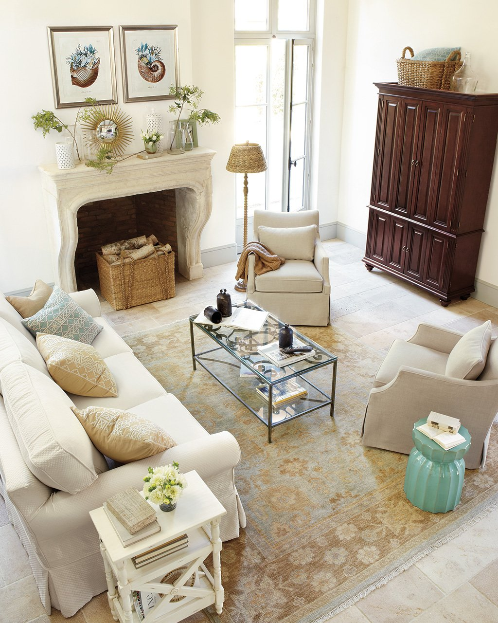 ways layout your living room how decorate table between two accent chairs larkin upholstered swivel glider slim wick media armoire valentino rug baldwin sofa annette magazine side