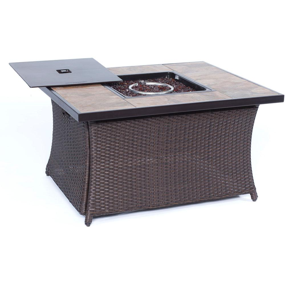 weather resistant fire pits outdoor heating the brown hanover coffeetblfp tile side table canadian tire wicker pit with porcelain stone pipe coffee dresser legs harveys bedroom