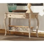 weathered oak square coffee table rustic log end tables distressed wood accent barnwood crate and barrel teton full size outdoor dining very small lamps runners next bedside 150x150
