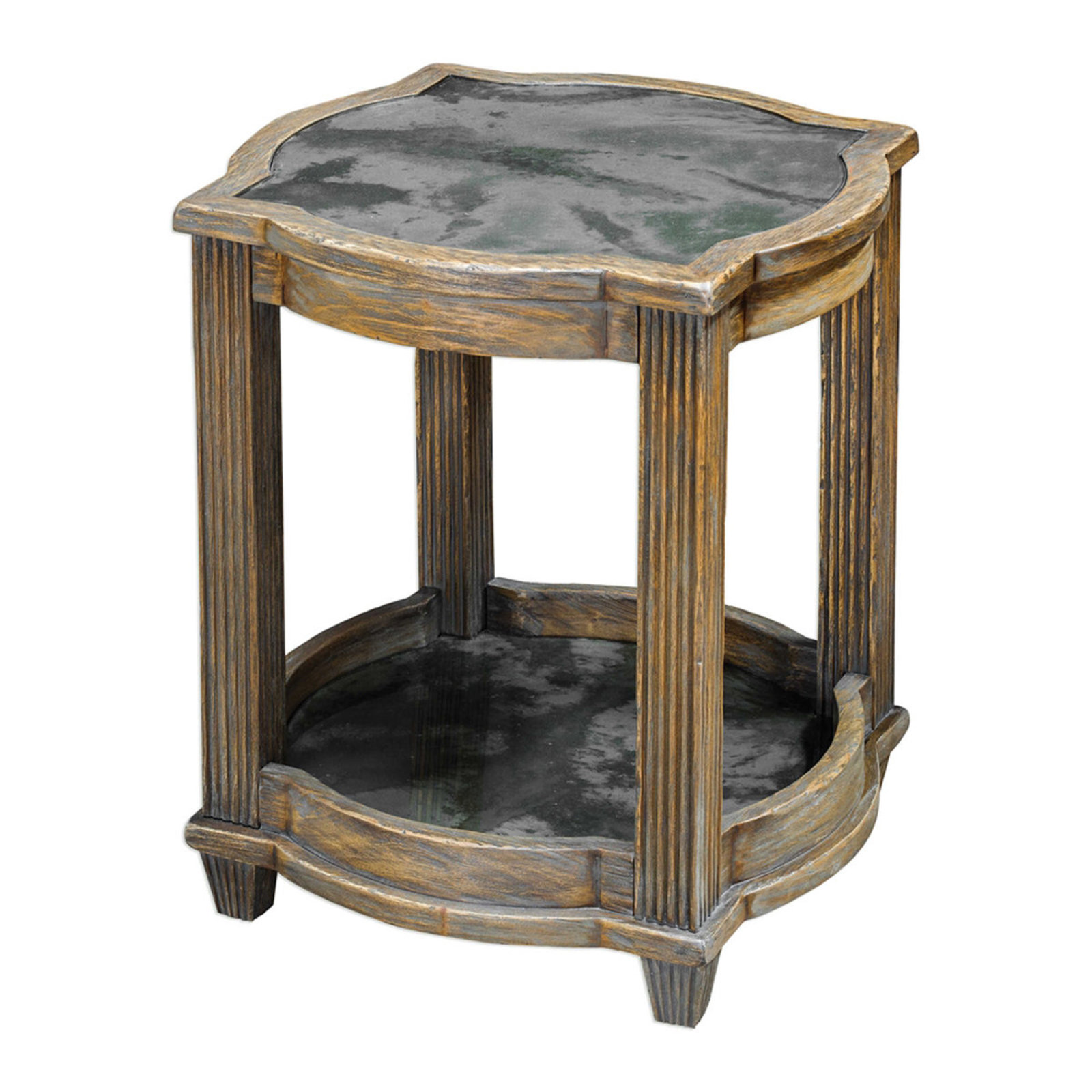 weathered wood quatrefoil accent table shades light oak stain gra antique marble top small dark console black and chairs grey bedside lights wall rustic blue end wide side stained