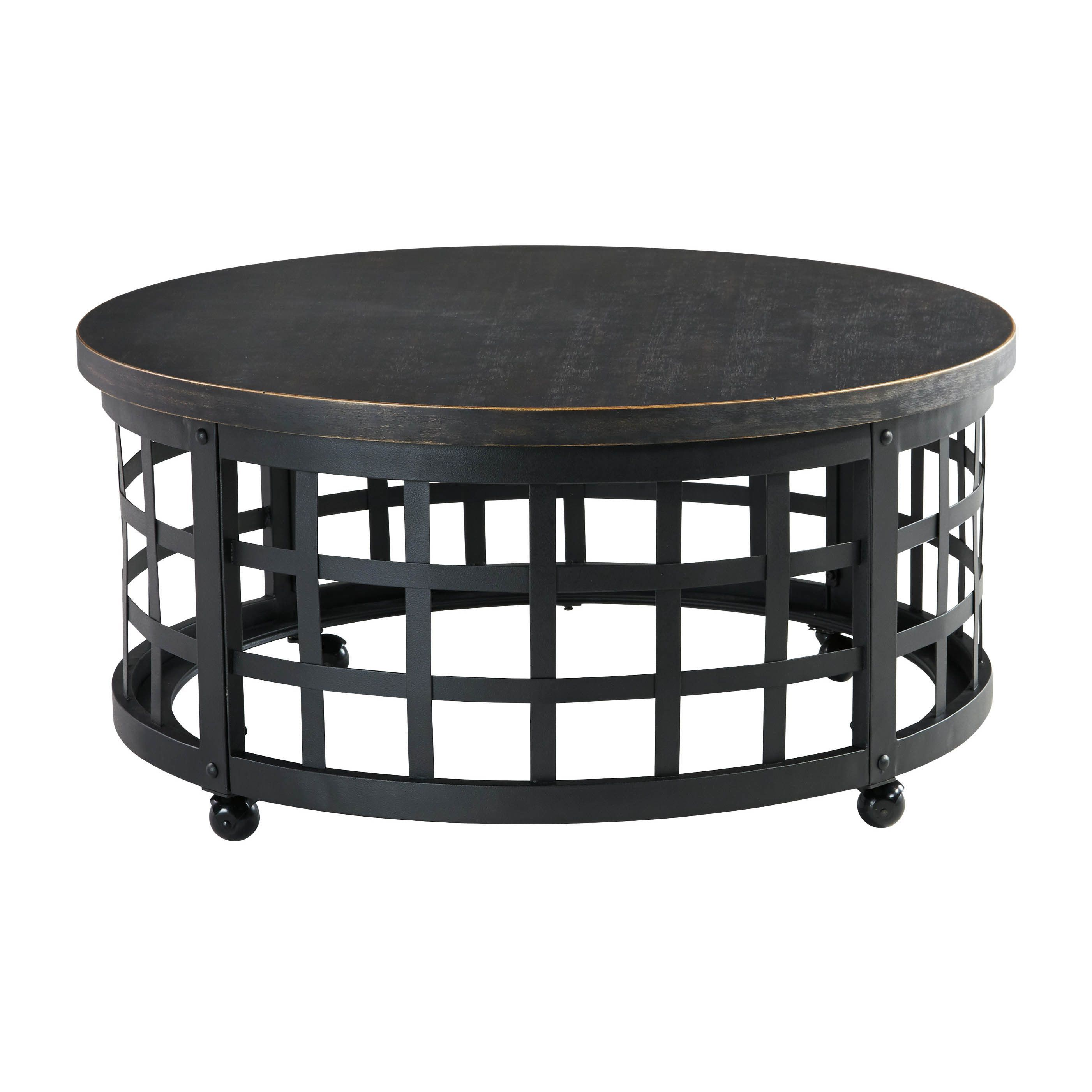 weave quite the conversation piece into your space with marimon woven metal accent table round coffee industrial basket crafted topped distressed modern sofa nautical console