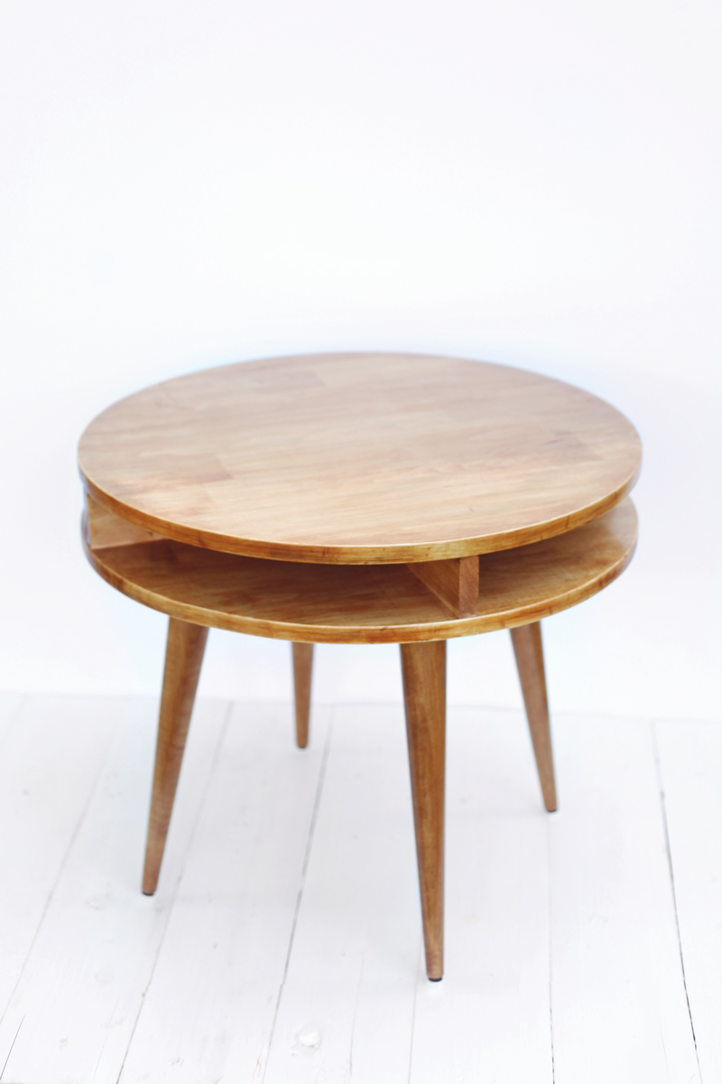 wedge shaped end table with drawer probably super real fine wood midcentury modern side diy beautiful mess tables build this mid century yourself click through for instructions