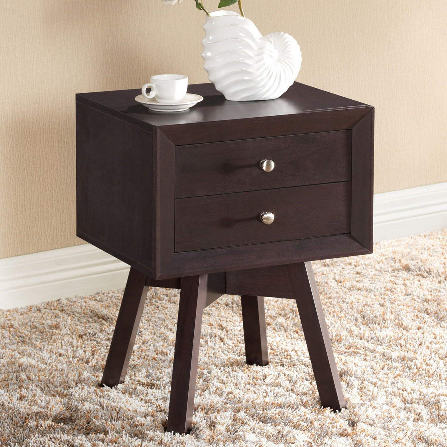 wedge table the perfect cool modern style end tables tures baxton studio warwick accent and nightstand brown kitchen dining oak corner distressed wood pipe fitting coffee counter