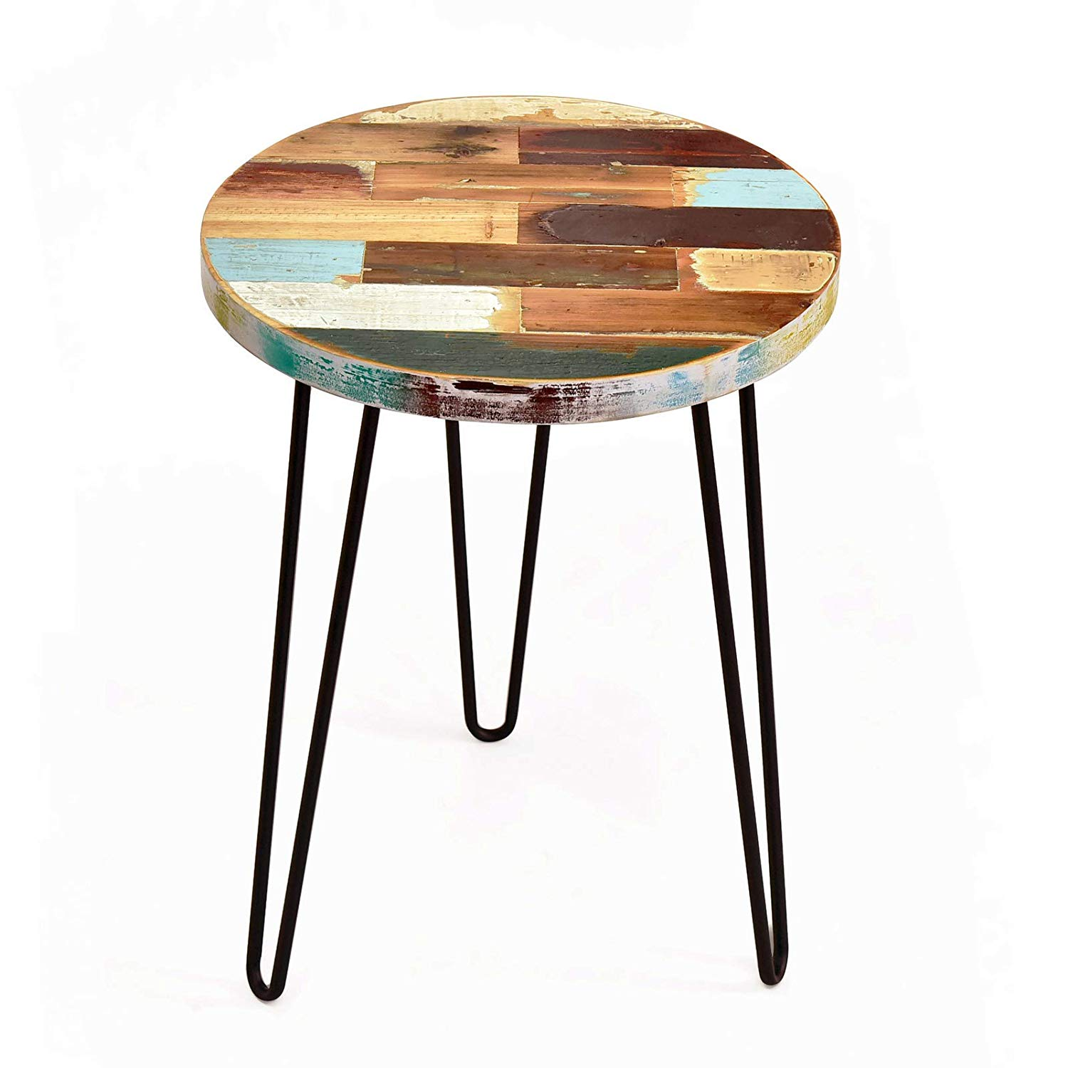welland side table reclaimed wood round hairpin leg end tall square accent night stand recycled boat kitchen dining grey patio furniture wicker storage coffee uttermost gin cube