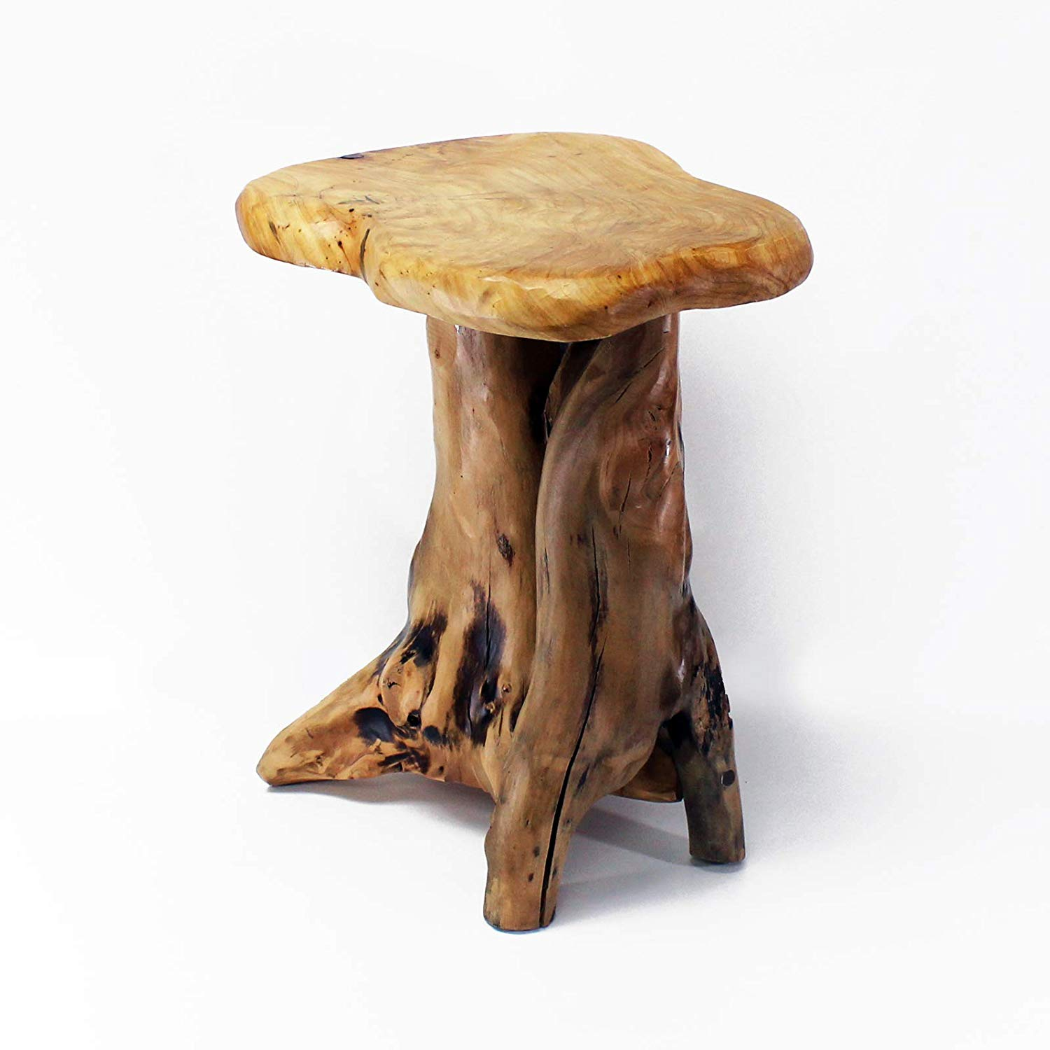 welland tree stump side table live edge stool natural accent brown wood tall home kitchen ikea clothes storage threshold marble top hexagon end chairs for living room black and