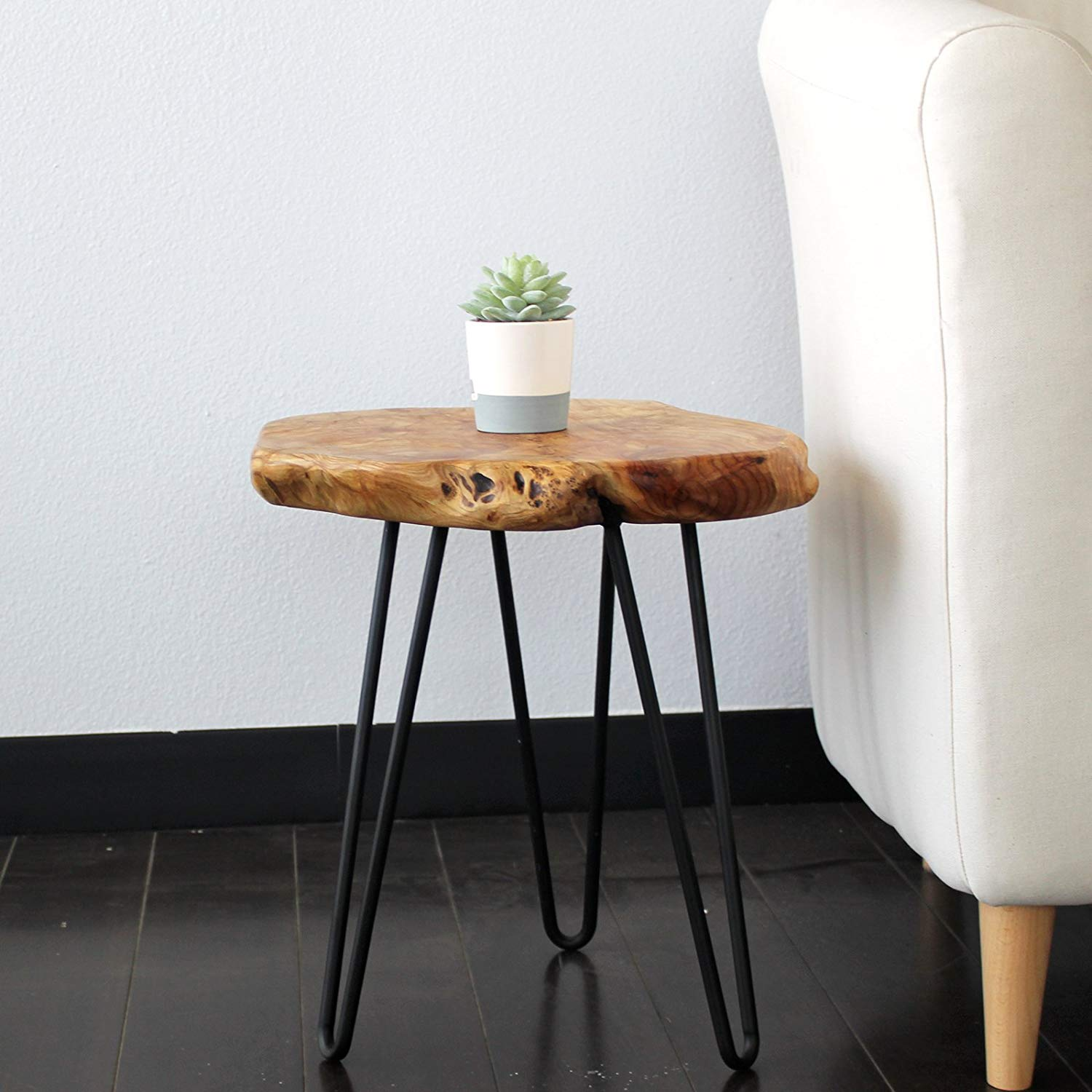 welland tree stump side table live edge stool natural wood accent tall cream colored tables touch lamps white patio pottery barn small battery operated quilted placemats wooden