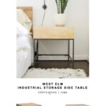 west elm industrial storage side table copycatchic look for less darley accent target end copy tall lamp small cabinet chest solid wood coffee with drawers bronze bedside ideas 150x150